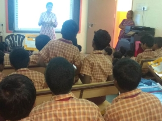 Interactive session on Periodic Table with students of Dr Vimala Convent Nesapakkam